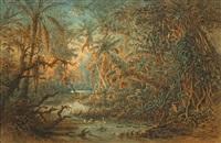 südamerikanischer urwald by anton goering