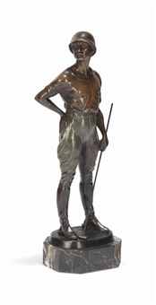 polo player figure by franz iffland