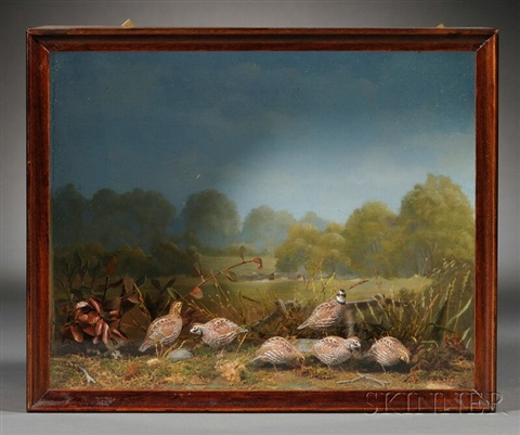bobwhite figures diorama by allen j king