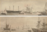 shipping in the lower thames by samuel atkins