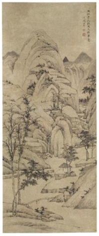 landscape after lu guang by hongren