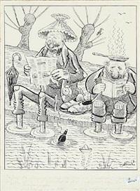 cartoon by robert storm-petersen