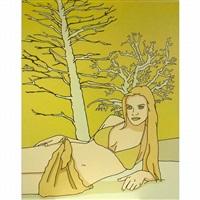 yellow trees by jun hasegawa