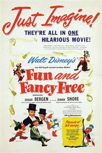 movie: edgar bergen & dinah shore in fun and fancy free by walt disney
