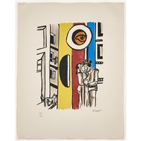 lovers in the street (framed) by fernand léger