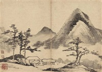 landscape (after mi fu) by li rihua