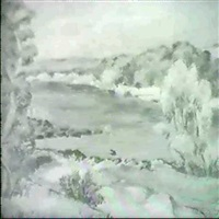 paisaje con rio by hector ragni