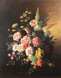 floral still life by richard forsyth