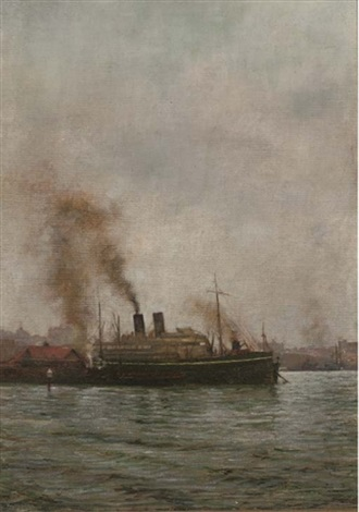 the rms medina in sydney harbour by dorothy bagge