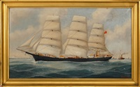 the british ship annie m. law by john henry mohrmann