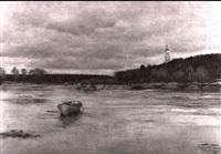 winterliche seelandschaft by fjodor karlowitsch burchardt