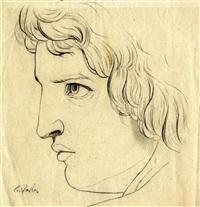 kopf eines antikischen jünglings, im profil nach links by carl philipp fohr
