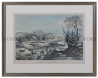 american winter scenes, morning (after f.f. palmer) by nathaniel currier