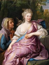 porträt einer dame, en vertumnus et pomone by nicolas fouche