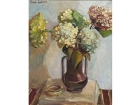 still life with hydrangeas by freida lock