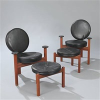 armchairs and matching stools (set of 4) by bent møller jepsen