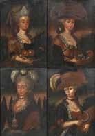 folge von vier porträts: weibliche schönheiten als allegorien der vier jahreszeiten. hüftbilder by anonymous (18)