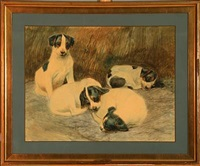 four puppies by vilhelm theodor fischer