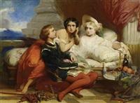 boccaccio liest joanna von neapel das dekameron vor by gustave (egidius karel g.) wappers