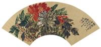任熊(1823-1857) 双色牡丹 by ren xiong