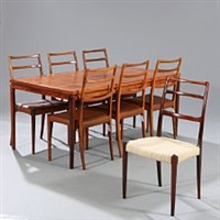 dining room suite (set of 8) by johannes andersen