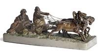 wintertroika mit der darstellung napoleons auf der flucht nach dem russland-feldzug by hans guradze