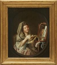porträtt av ulrica hilleström, konstnärens dotter by pehr hilleström