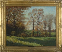 trees in early autumn by harold c. dunbar