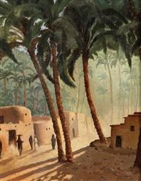 oase bei kairo by jaromir hilbert