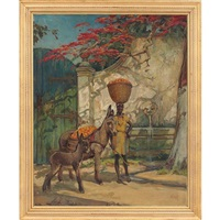 going to market, haiti by william edouard scott