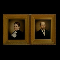 untitled (portrait) (+ another; pair) by e. roda