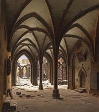 die ruine des klosters walkenried im winter by carl georg adolph hasenpflug