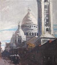 nuns outside sacré coeur by clément (joseph charles louis) sénèque