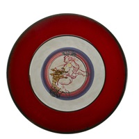 plates (set of 12) by gilbert portanier