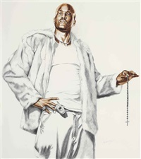 madonna of the rosary (study) by kehinde wiley