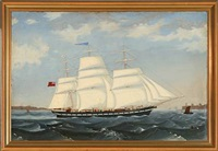 ship portrait of the english barque macleod by terence shorey