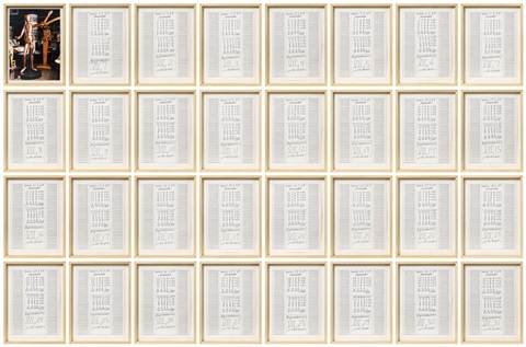 untitled in 32 parts by hanne darboven