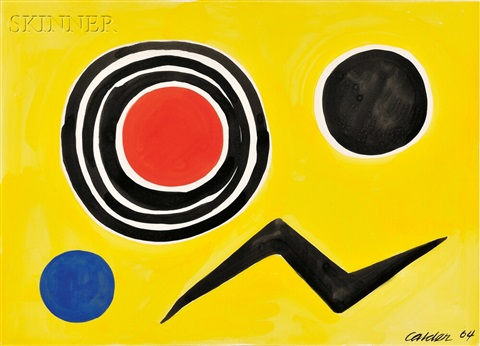 untitled red nucleus by alexander calder