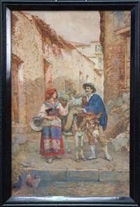 grape seller by publio de tommasi