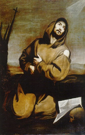 ac55c24fe2feb2 San Francisco de Asís en éxtasis by Francisco de Zurbarán on artnet