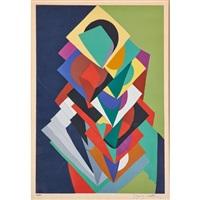 abstract screenprint by jacques villon