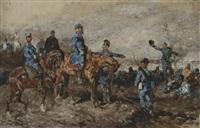 general ludwig von der tann zu pferde (schlacht bei wörth 6. august 1870 ?) by otto von faber du faur