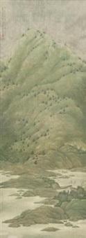 青山霁后云犹在 (landscape) by xu xinrong
