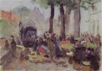 marktszene belgien by konrad kardorff