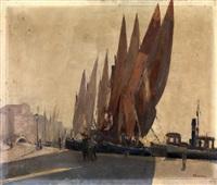 molo con barche a vela by vincenzo colucci