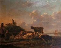 paesaggio con armenti by matthijs quispel