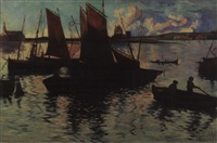fishing boats by hattie hutchcraft hill