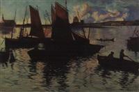 fishing boats by hattie hutchcraft hill