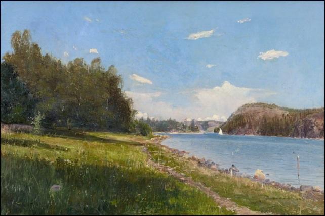 kesäpäivä järvellä sommardag på sjön by alfred thörne