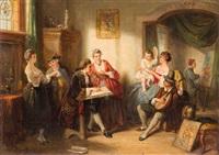 besuch im atelier des malers by henricus engelbertus reijntjens